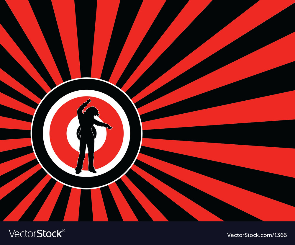 Female dancing vector image