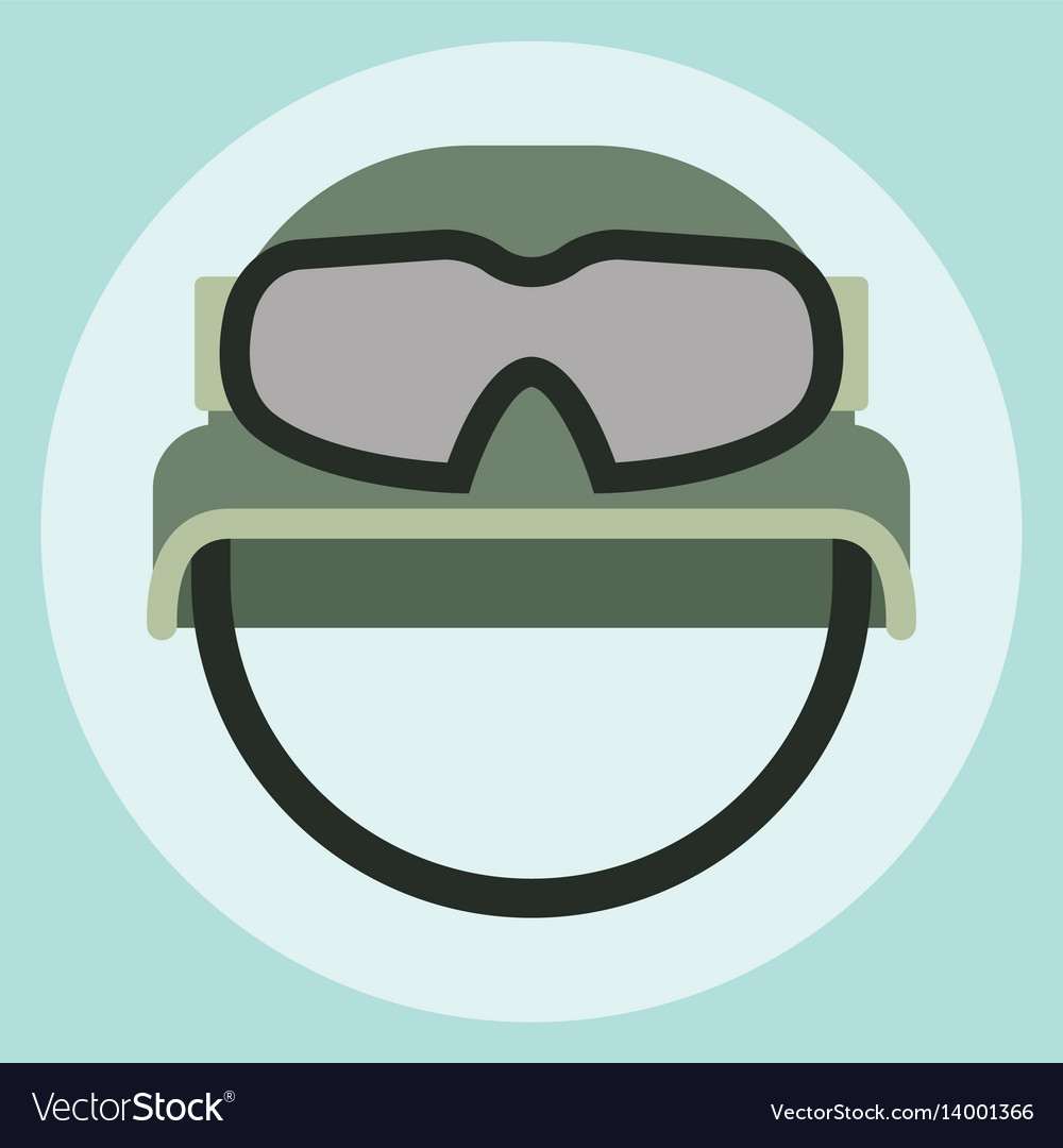 Military modern camouflage helmet army symbol of vector image