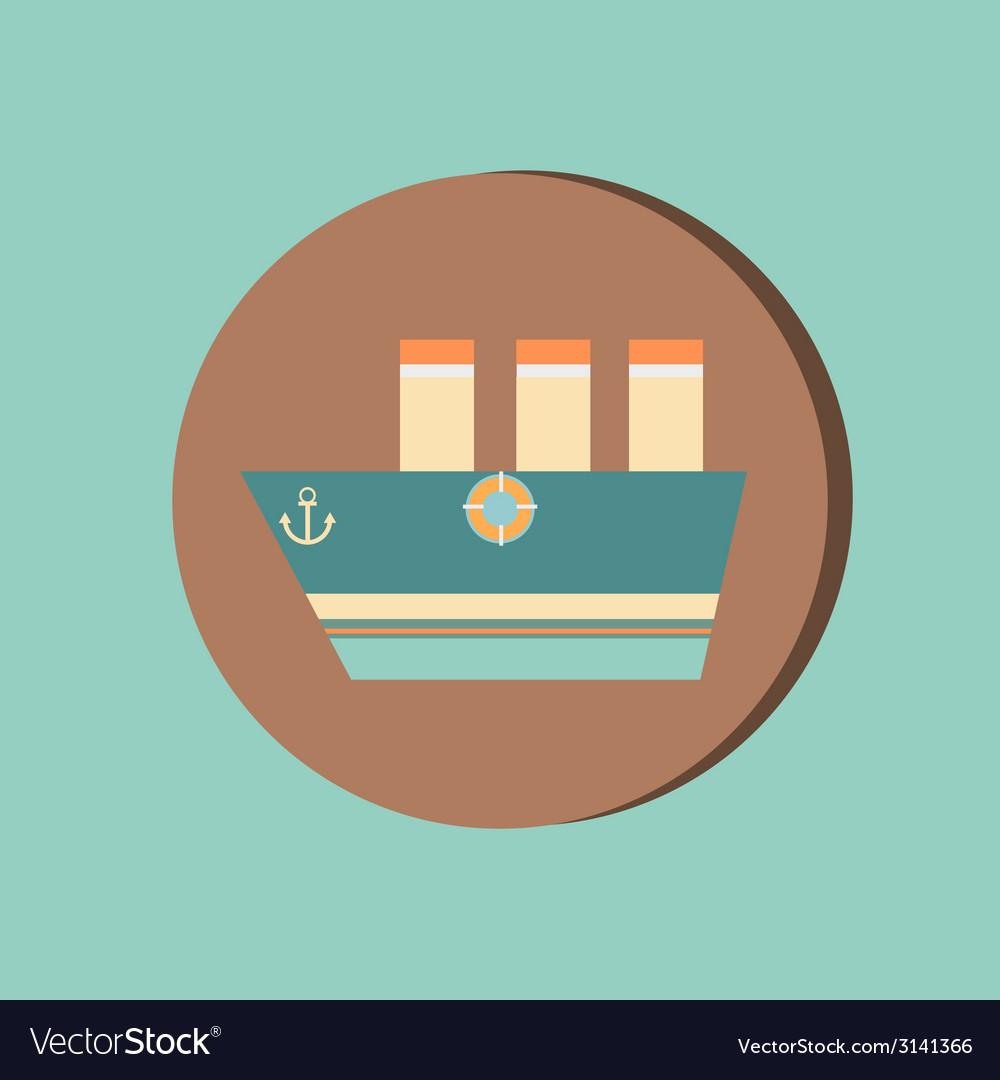 Sailing ship symbol icon boat steamer sailboat vector image sailing ship symbol icon boat steamer sailboat vector image buycottarizona