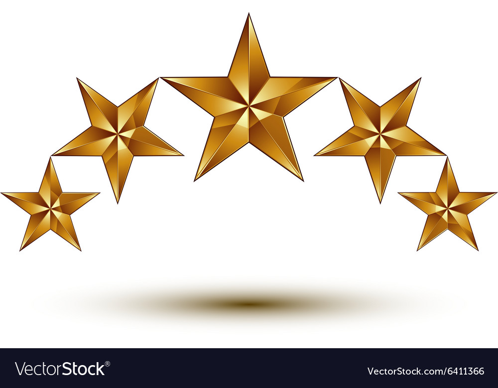 wonderful template with 5 golden stars rounded vector image gold star clipart free download gold star clipart free