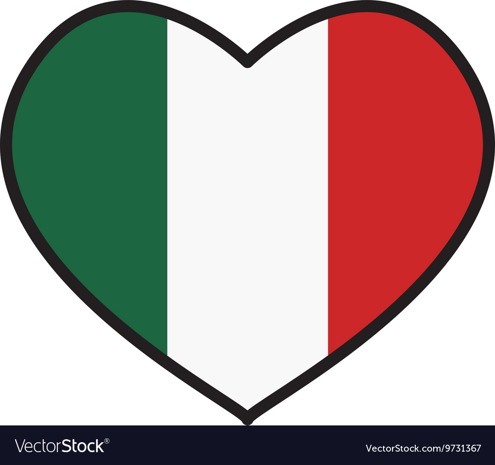 Flag icon Italy design graphic vector image