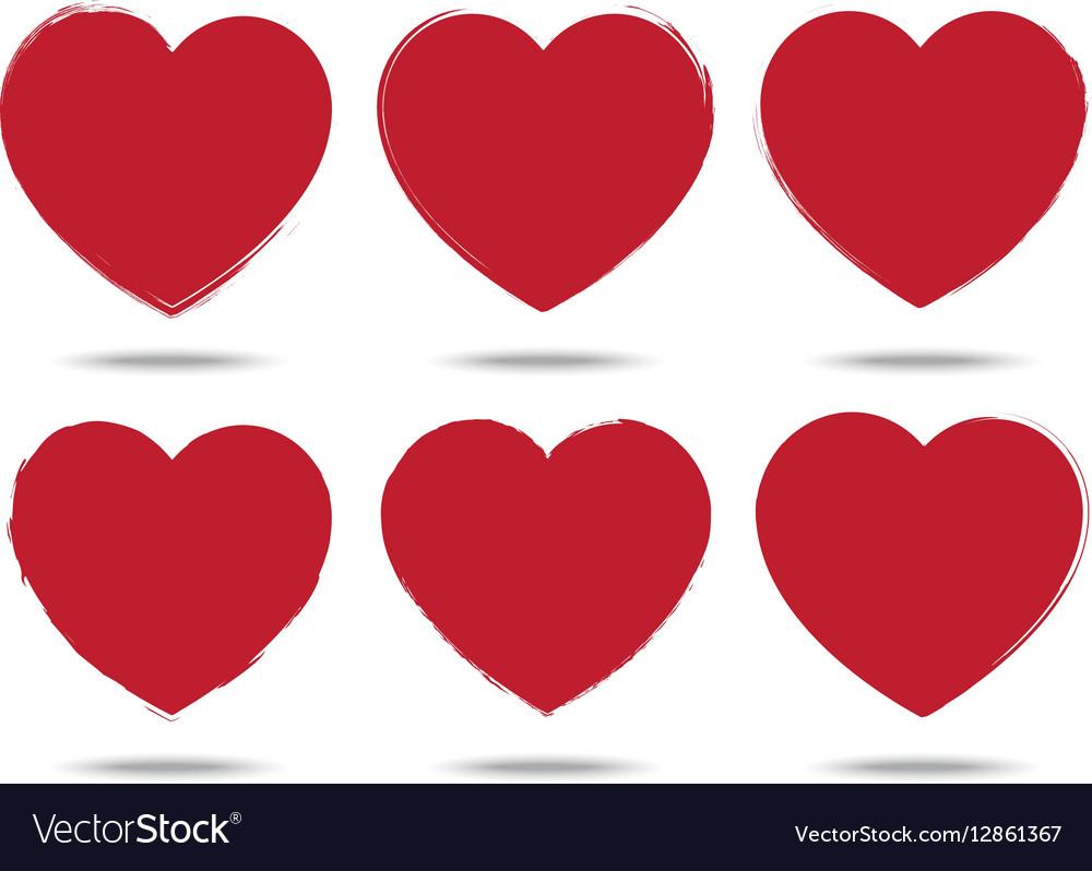 Heart set of brush stroke style love symbols vector image heart set of brush stroke style love symbols vector image biocorpaavc