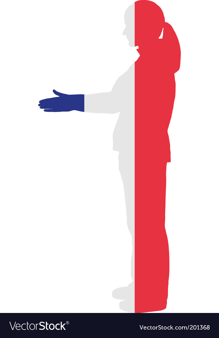 French handshake vector image