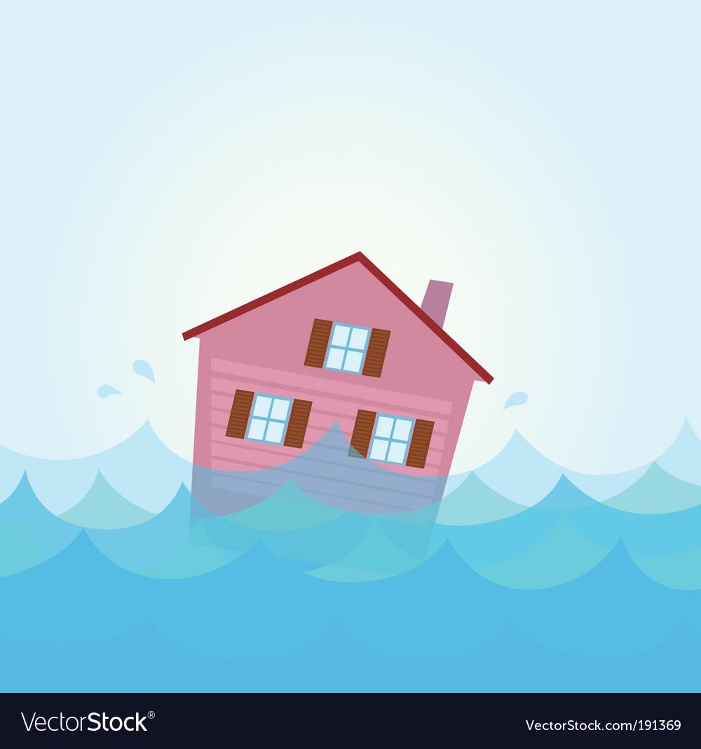 House flood vector image