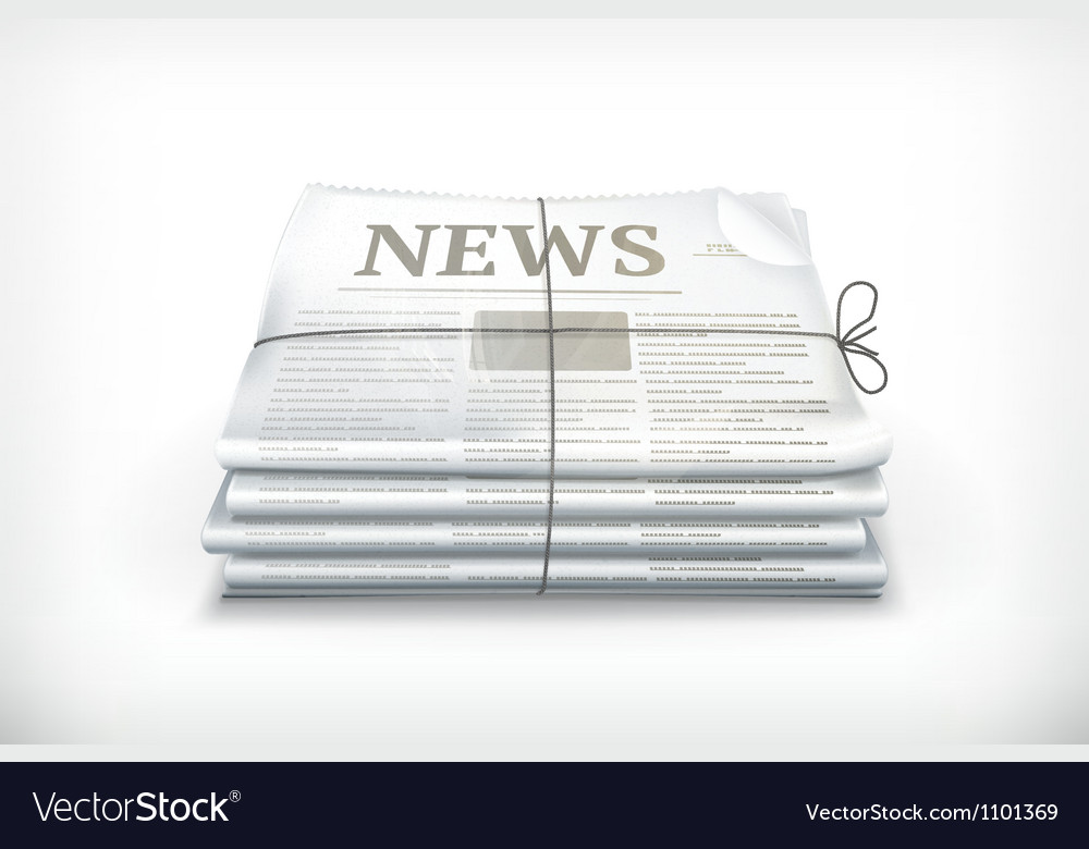 Stack of newspapers vector image