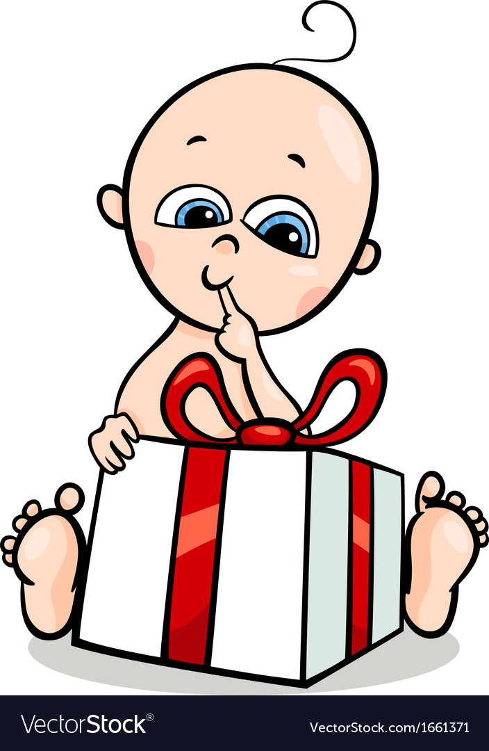 Baby boy with gift cartoon royalty free vector image baby boy with gift cartoon vector image negle Image collections