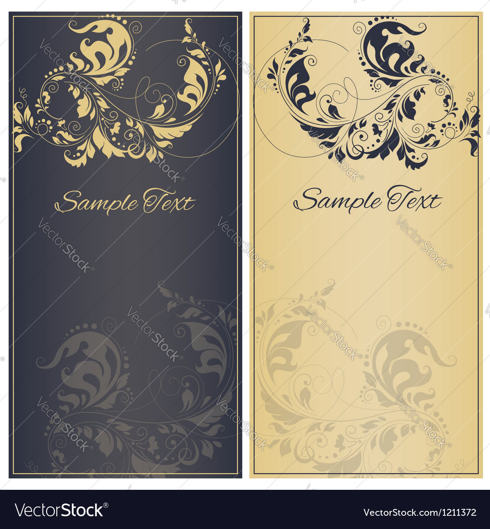 Decorative frame or invitation cards vector image