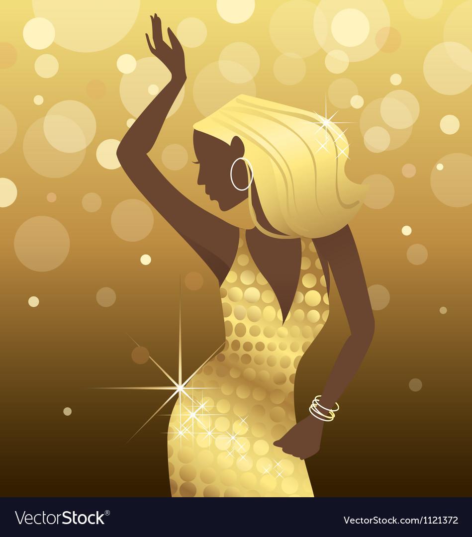 Dancing Diva vector image