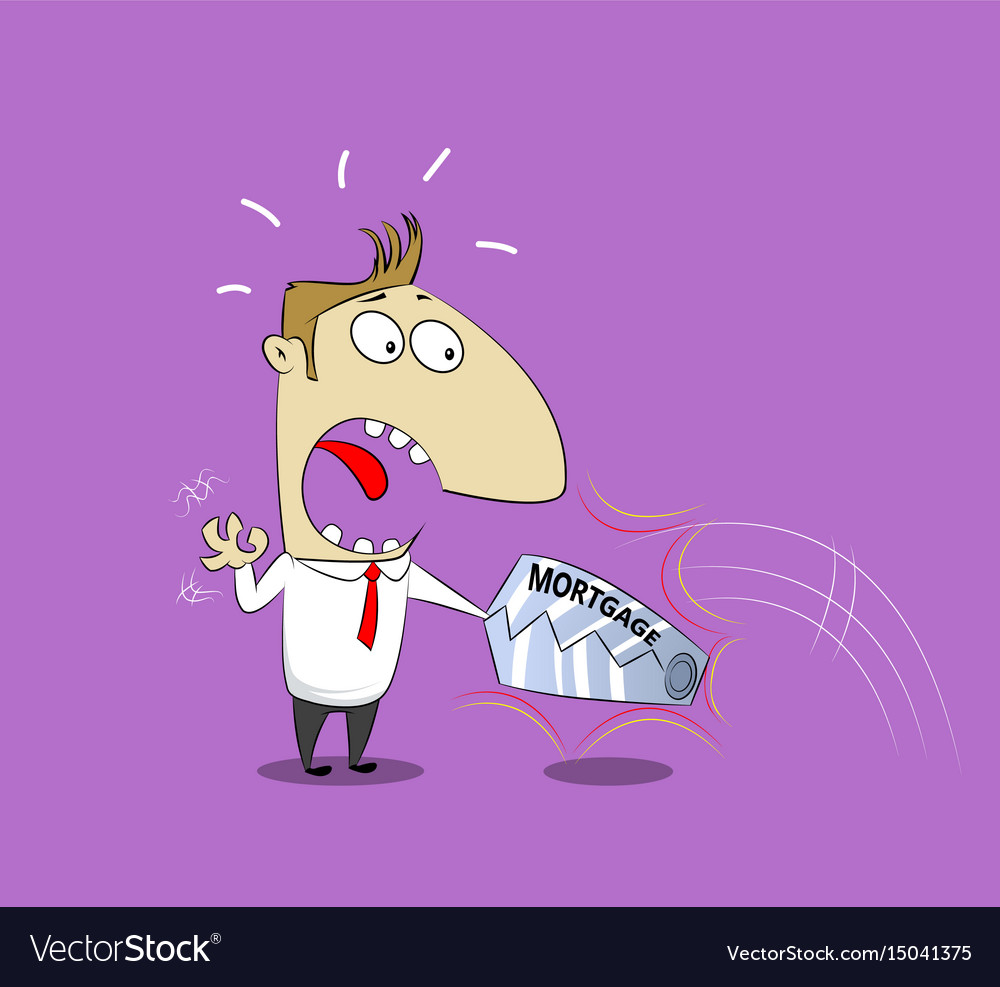 Businessman in trap vector image