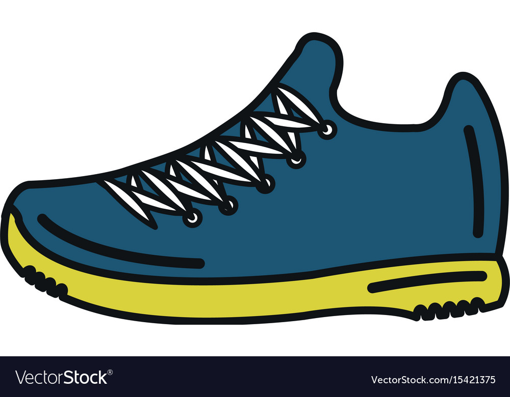 tennis shoe isolated icon royalty free vector image rh vectorstock com tennis shoe print vector Running Shoe Vector