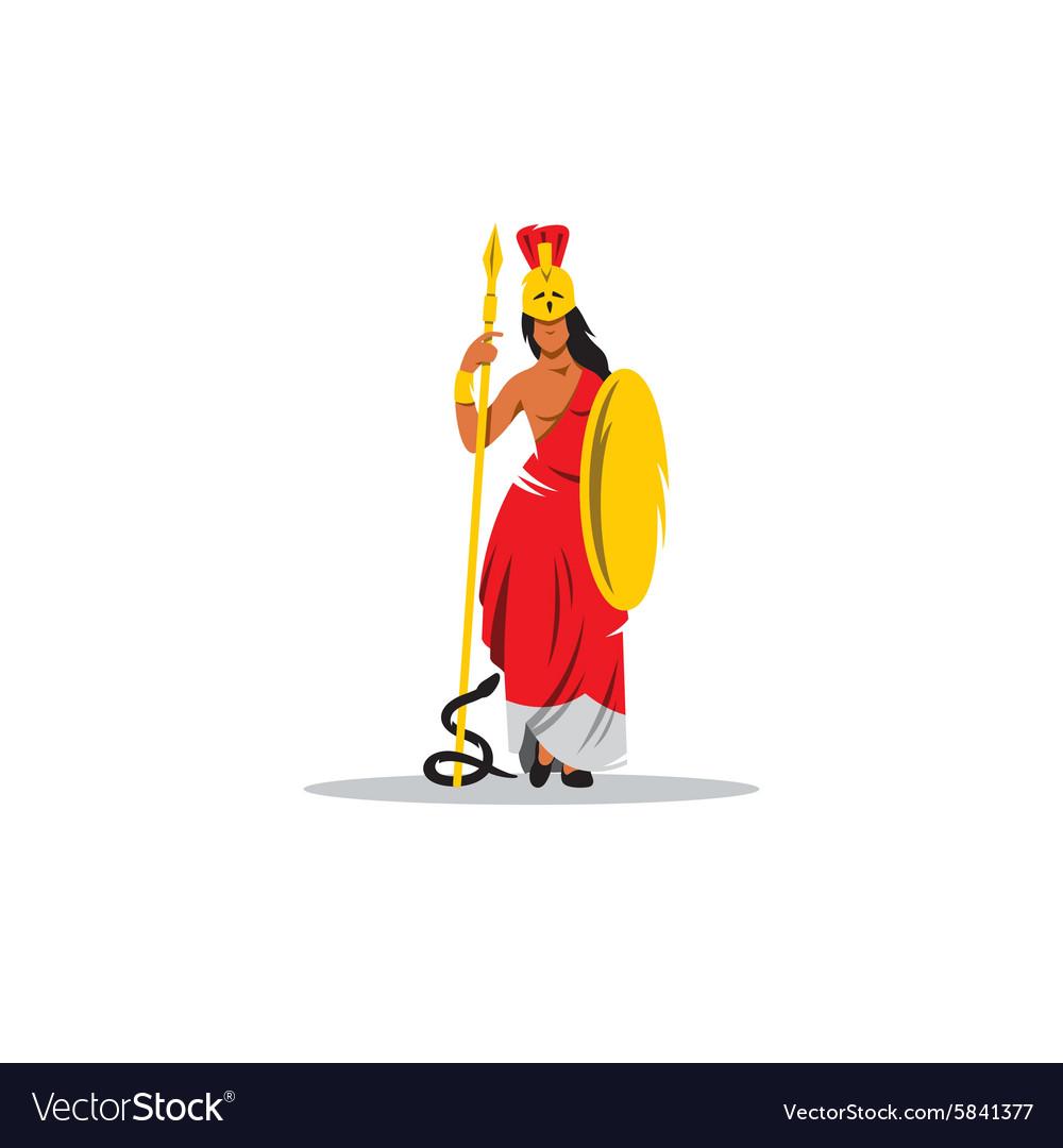 Athena sign Mythological Greek Goddess of wisdom vector image
