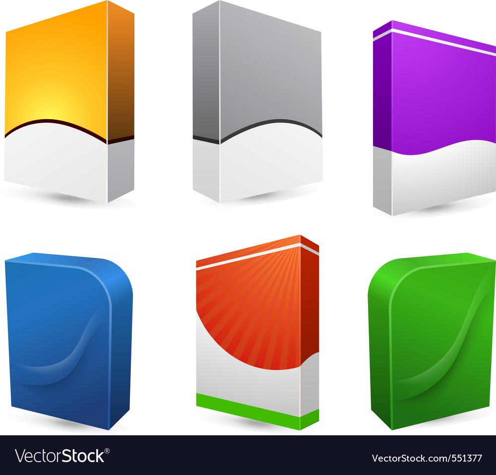 Blank dvd box on background vector illustration vector image