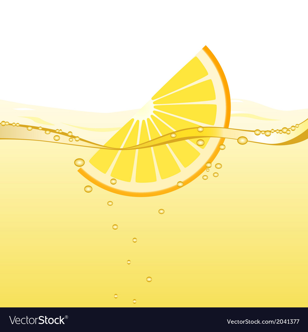Orange drink vector image