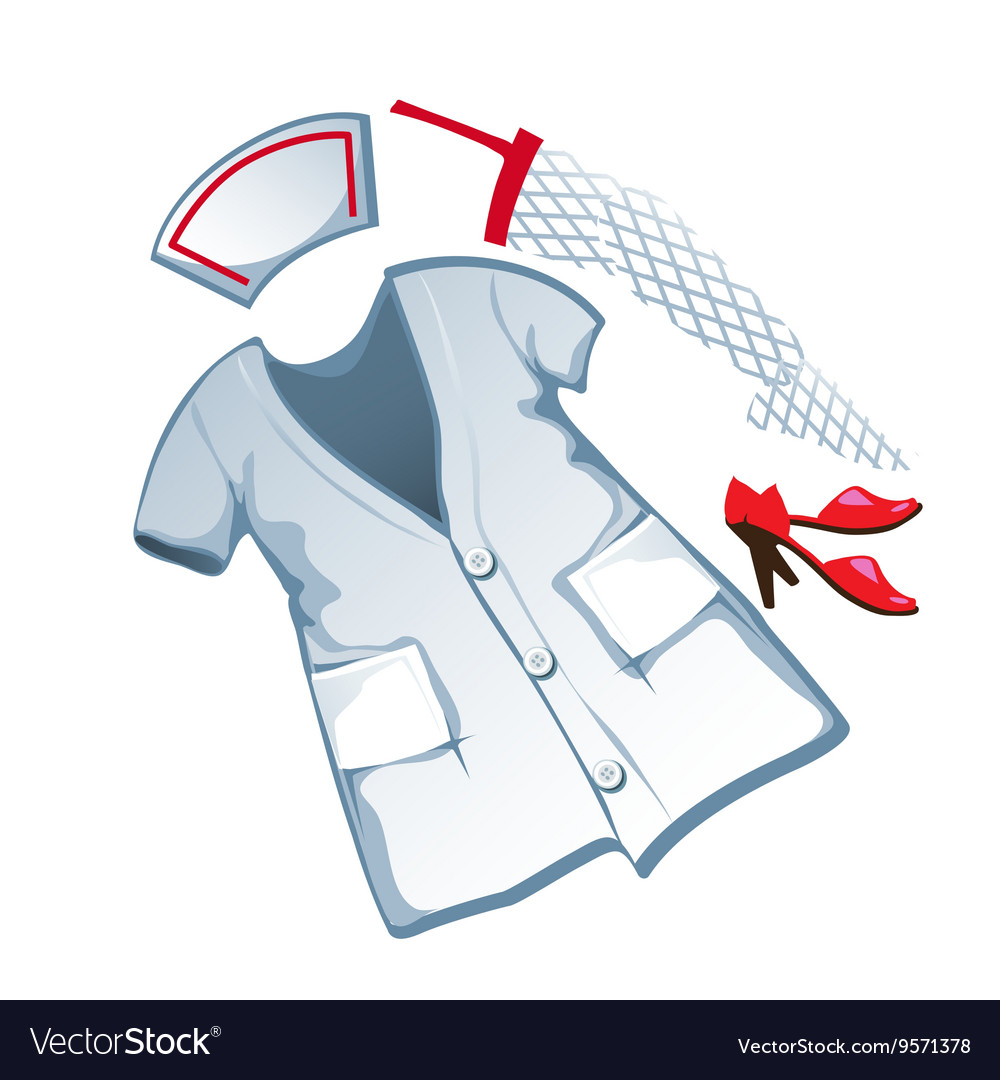 Erotic medical suit in cartoon style vector image