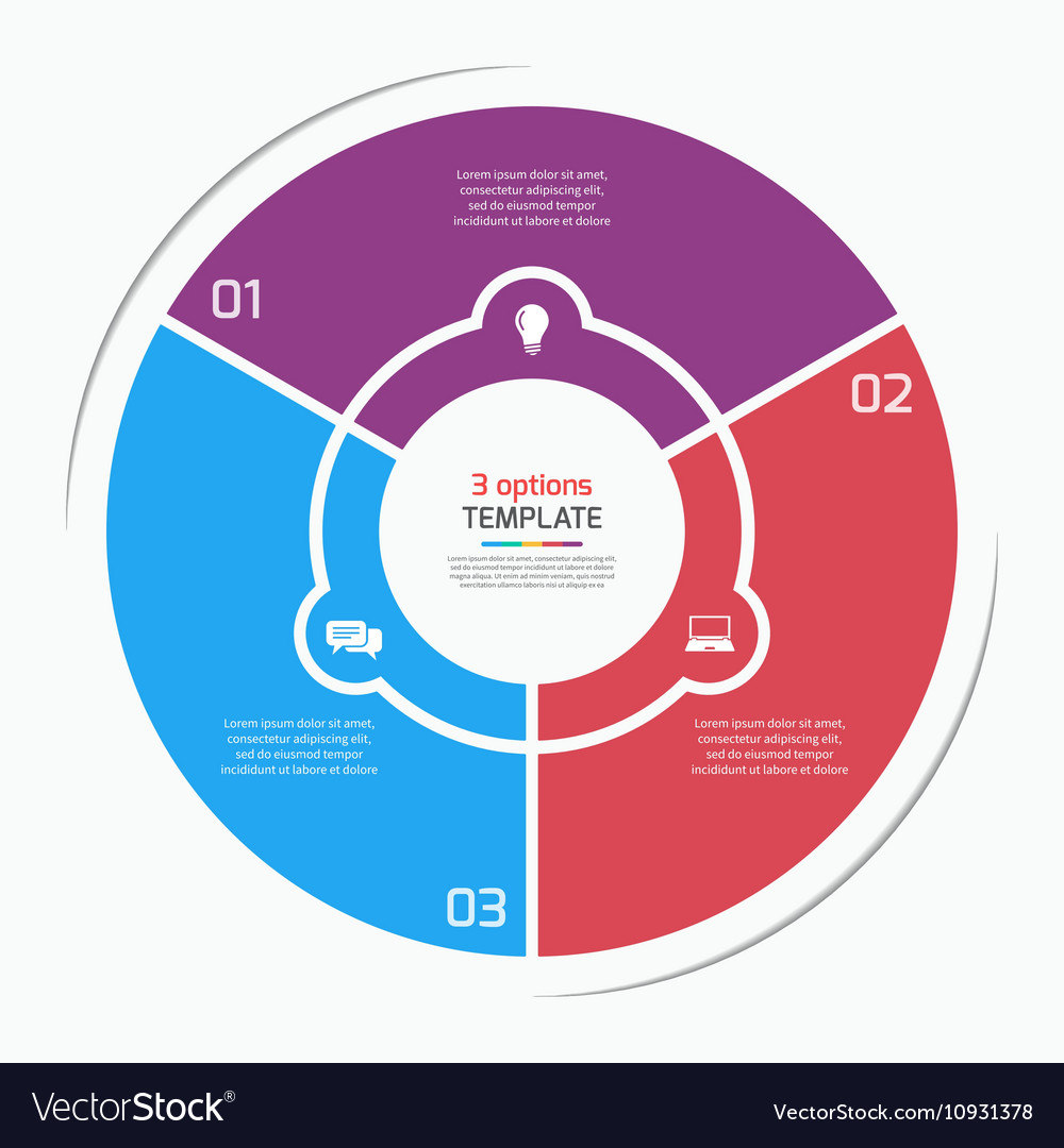Flat style pie chart circle infographic template vector image nvjuhfo Choice Image