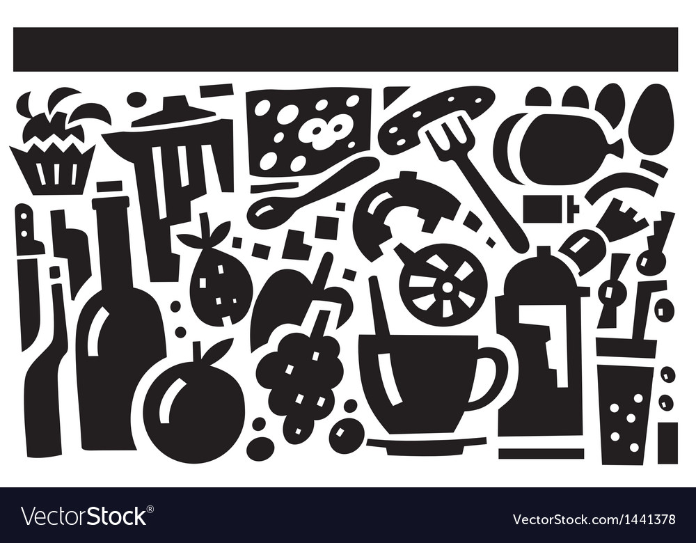 Food and drink - vector image