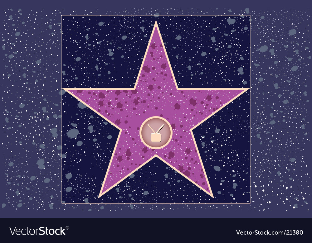 Television hollywood star vector image