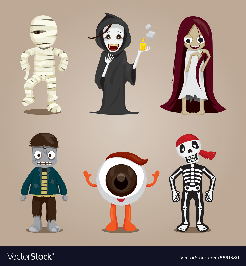 Character Design Set : Halloween ghost character design set royalty free vector