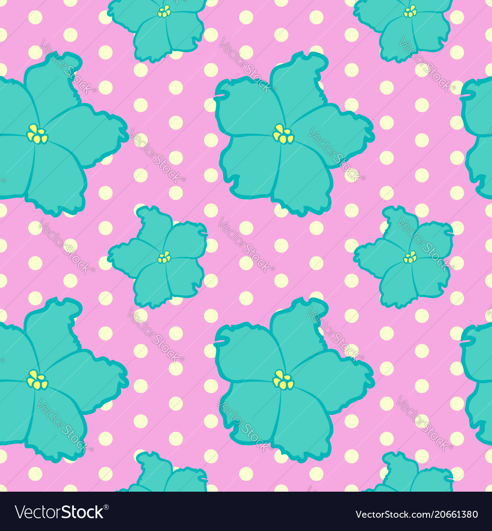 Seamless floral pattern with blue violet flowers vector image izmirmasajfo