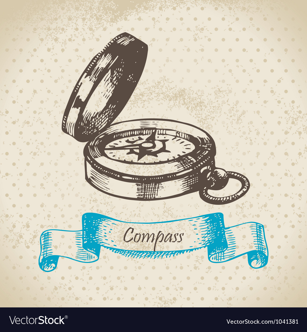 Mariners compass vector image