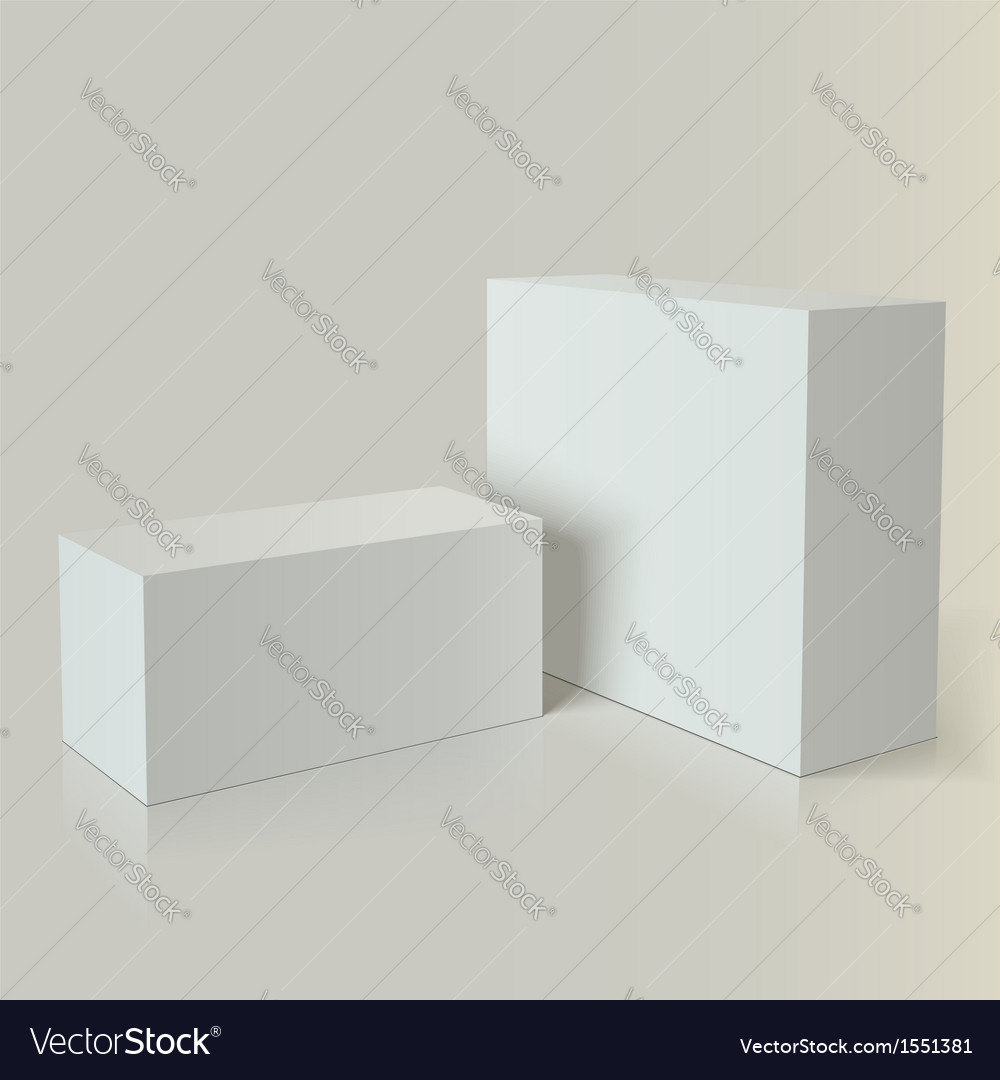 Photo realistic white packaging branding packaging vector image