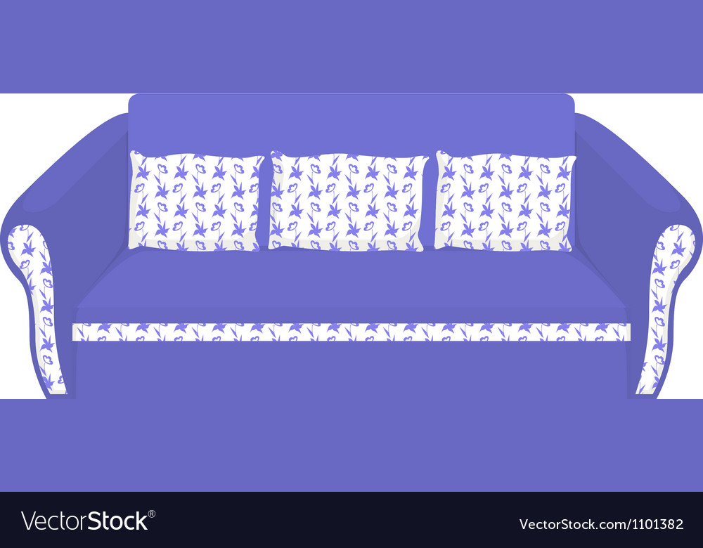 Blue sofa vector image