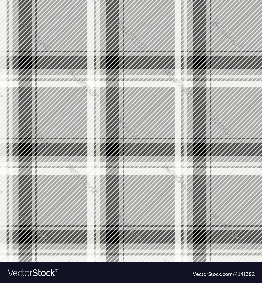 Seamless light tartan pattern fabric Black and vector image