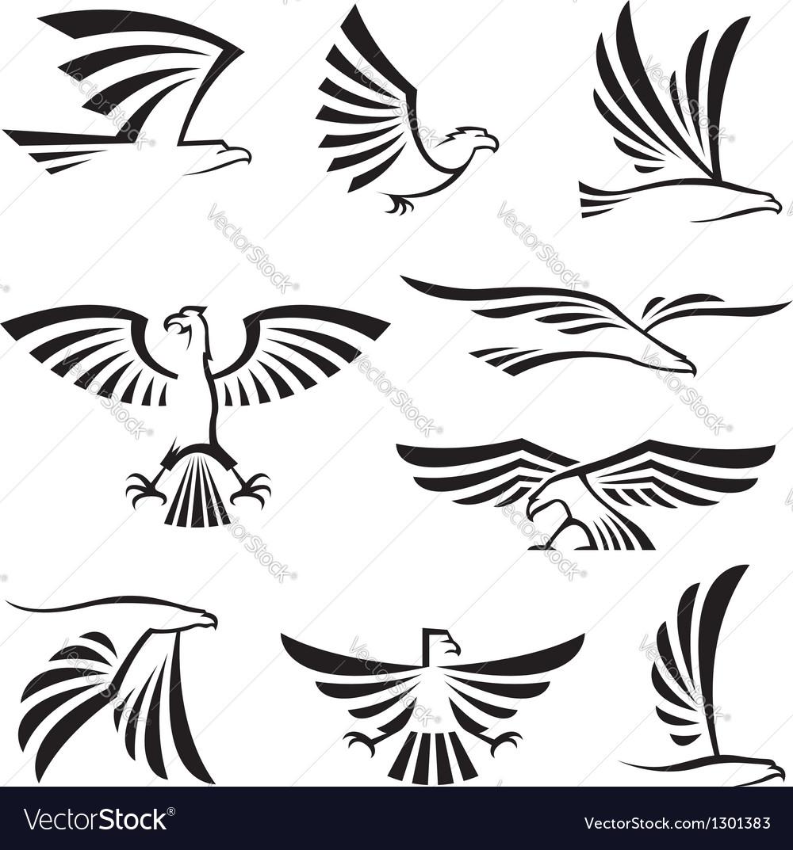 Eagle symbols vector image