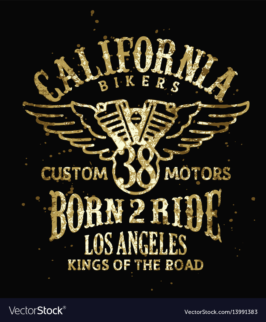 California bikers vector image