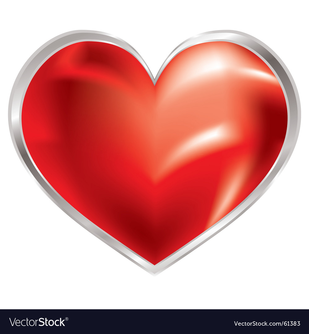 Love heart shimmer vector image
