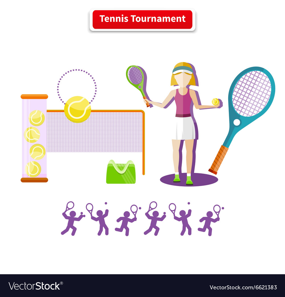 Tennis Tournament Concept vector image