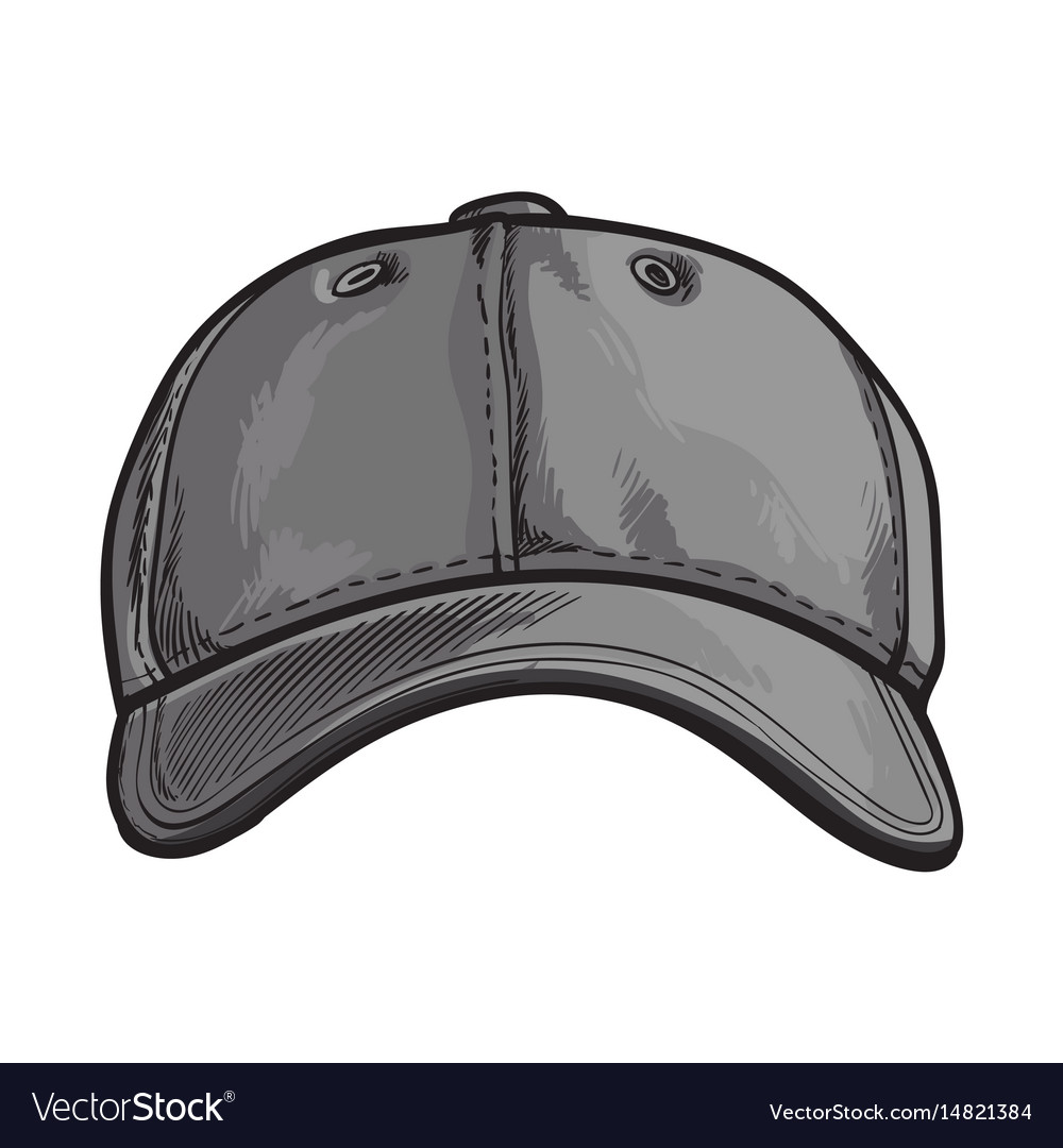 Clean unlabelled grey colored textile baseball vector image