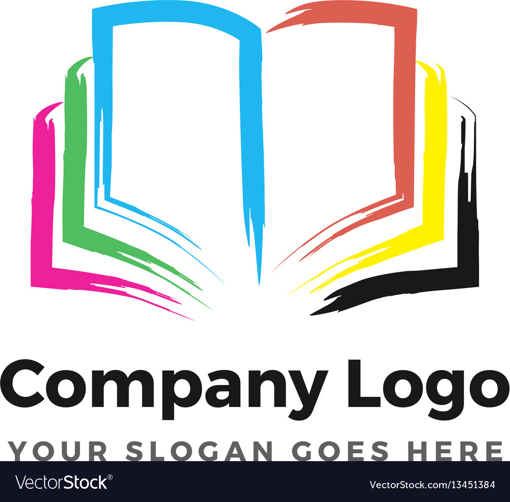 Color book logo vector image