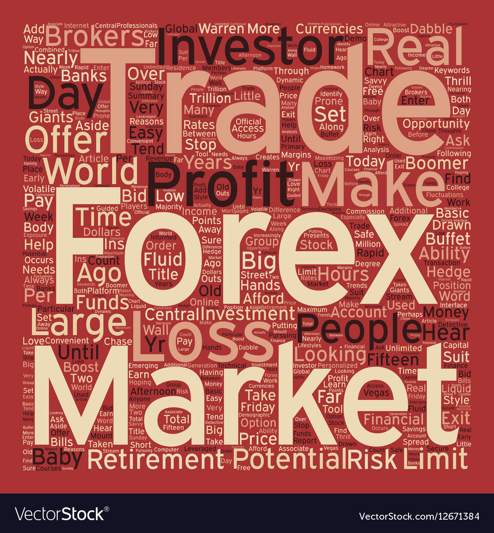 Just Who Trades Forex Currencies text background vector image