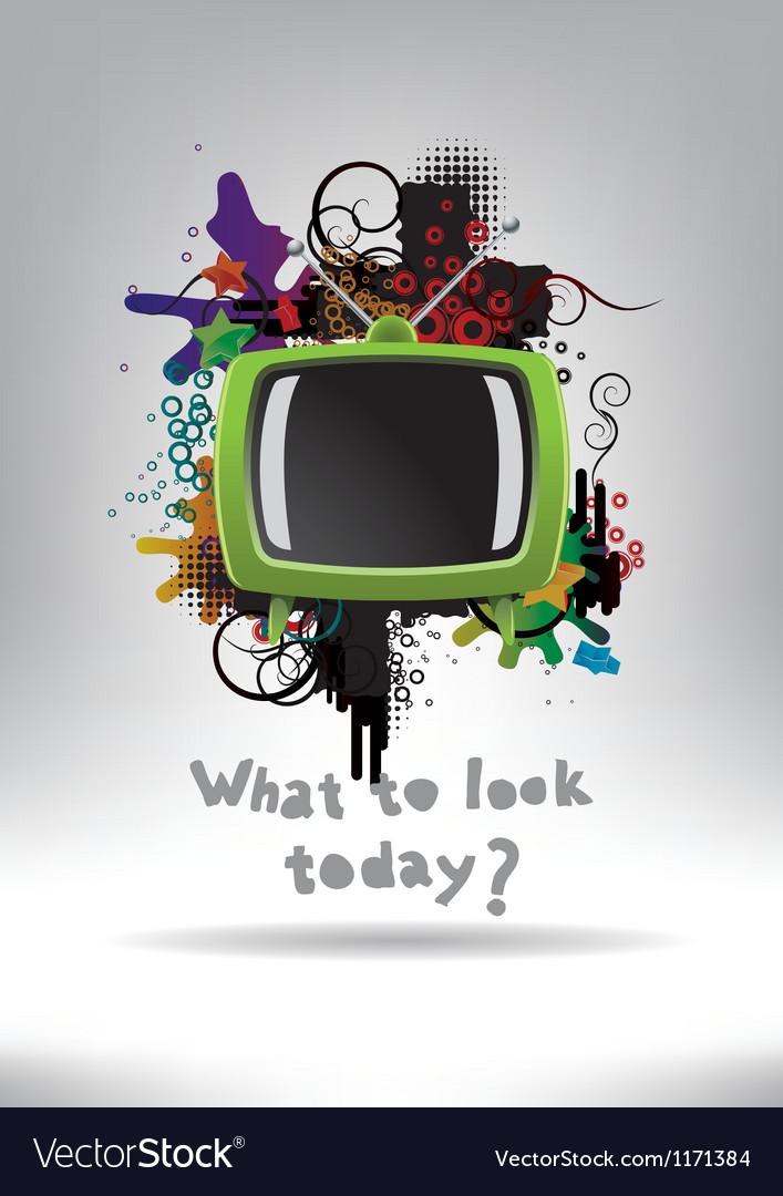 Television Set Background vector image