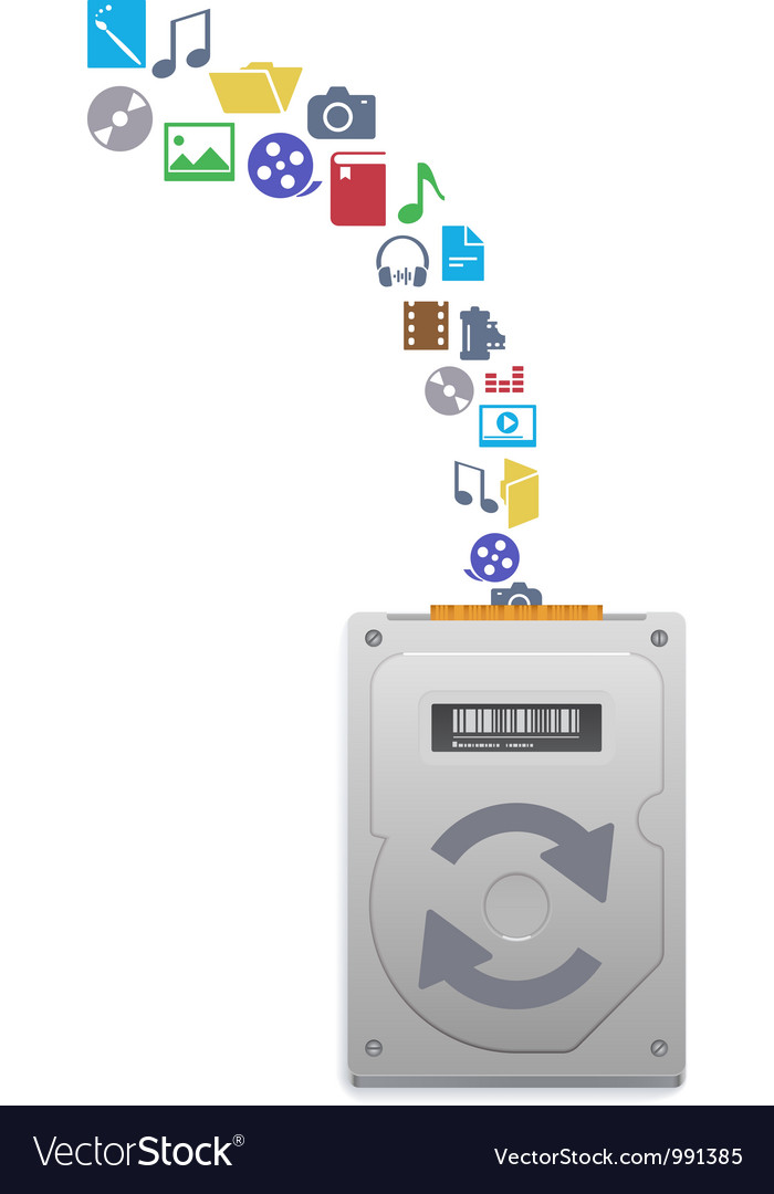Hard disk drive vector image