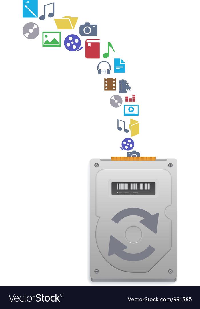 Hard disk drive vector image