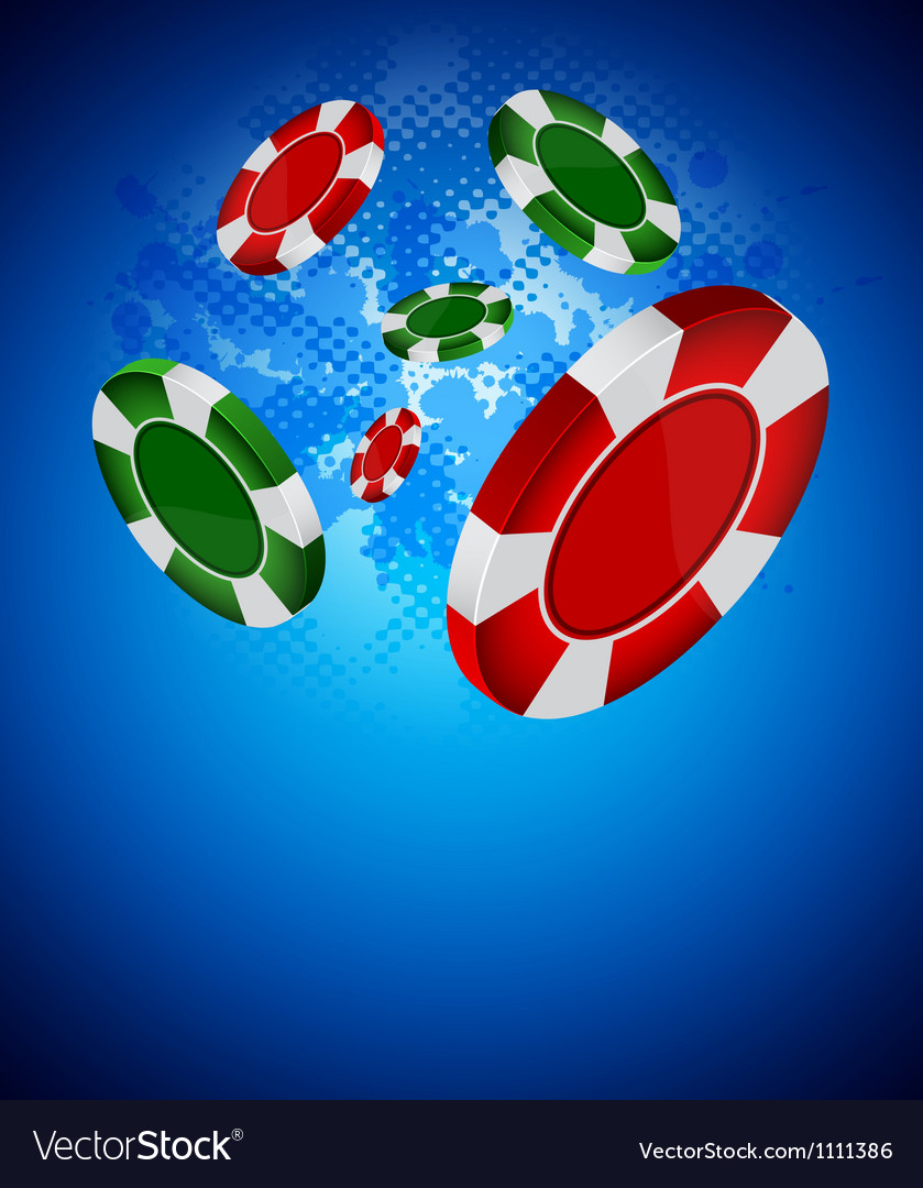 Casino back vector image