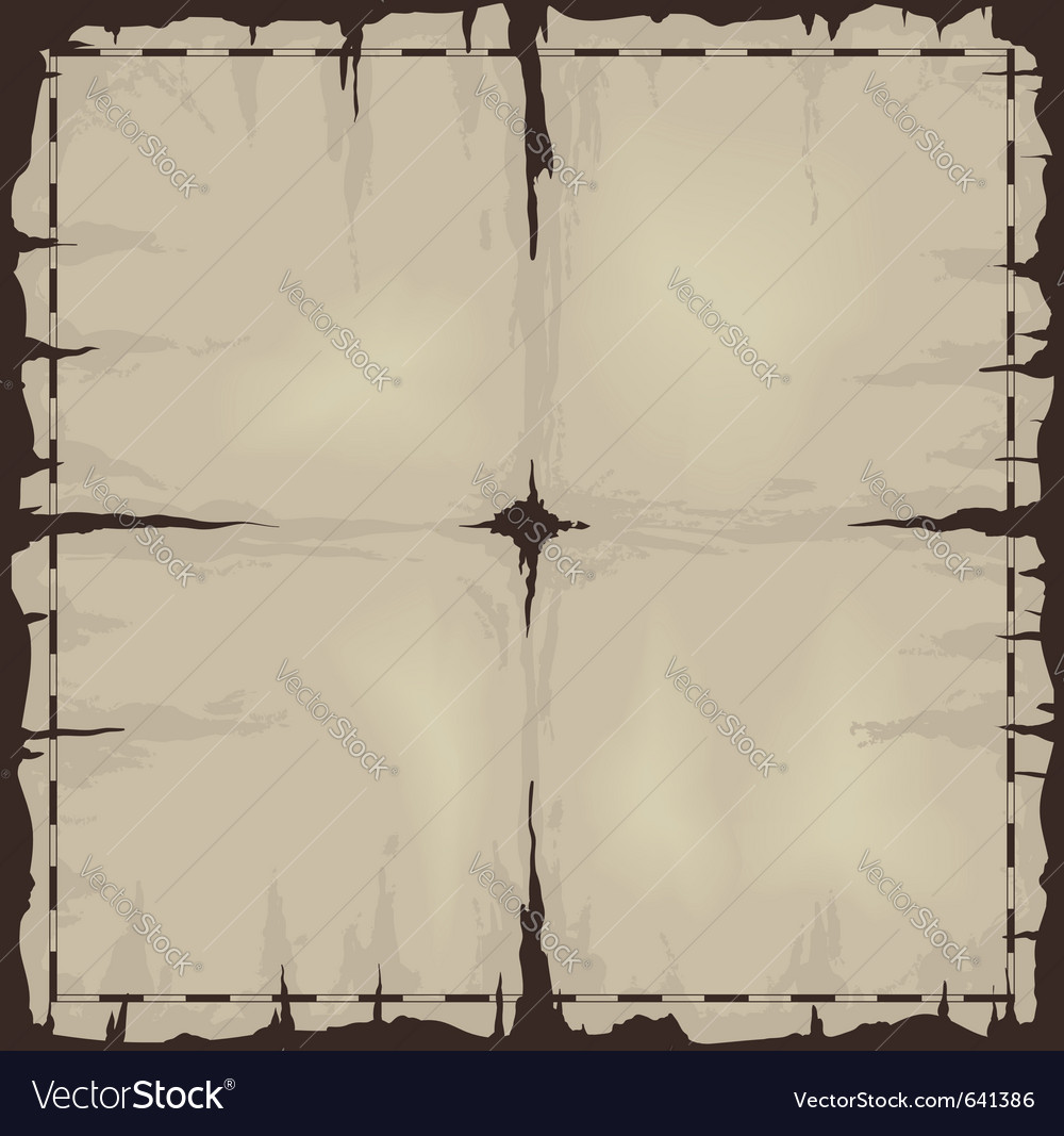 Old damaged paper or map vector image