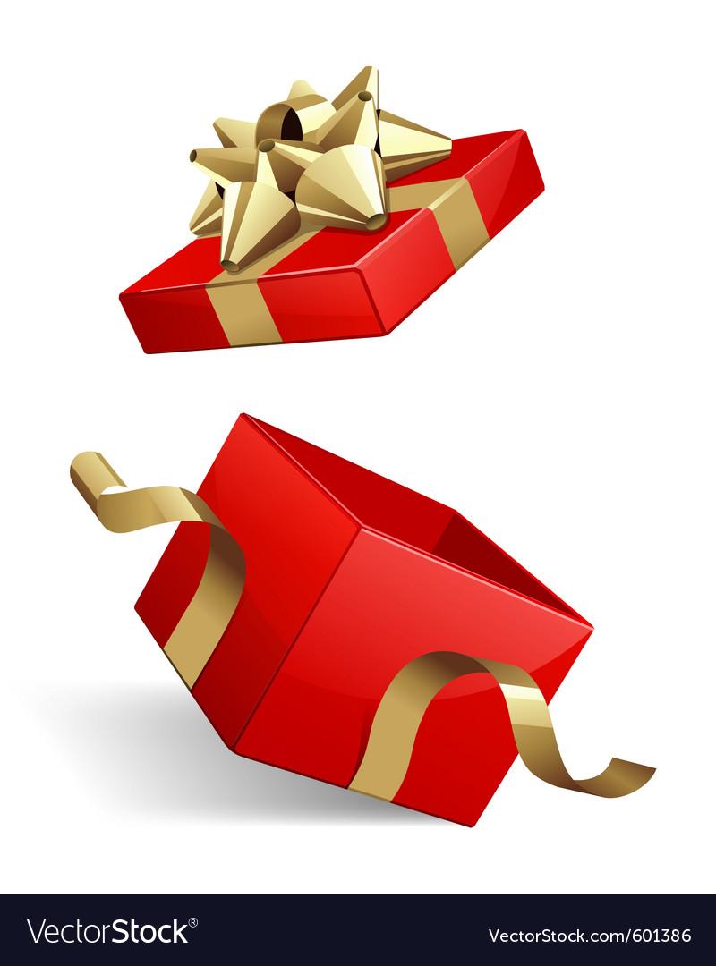 Opened gift box vector image