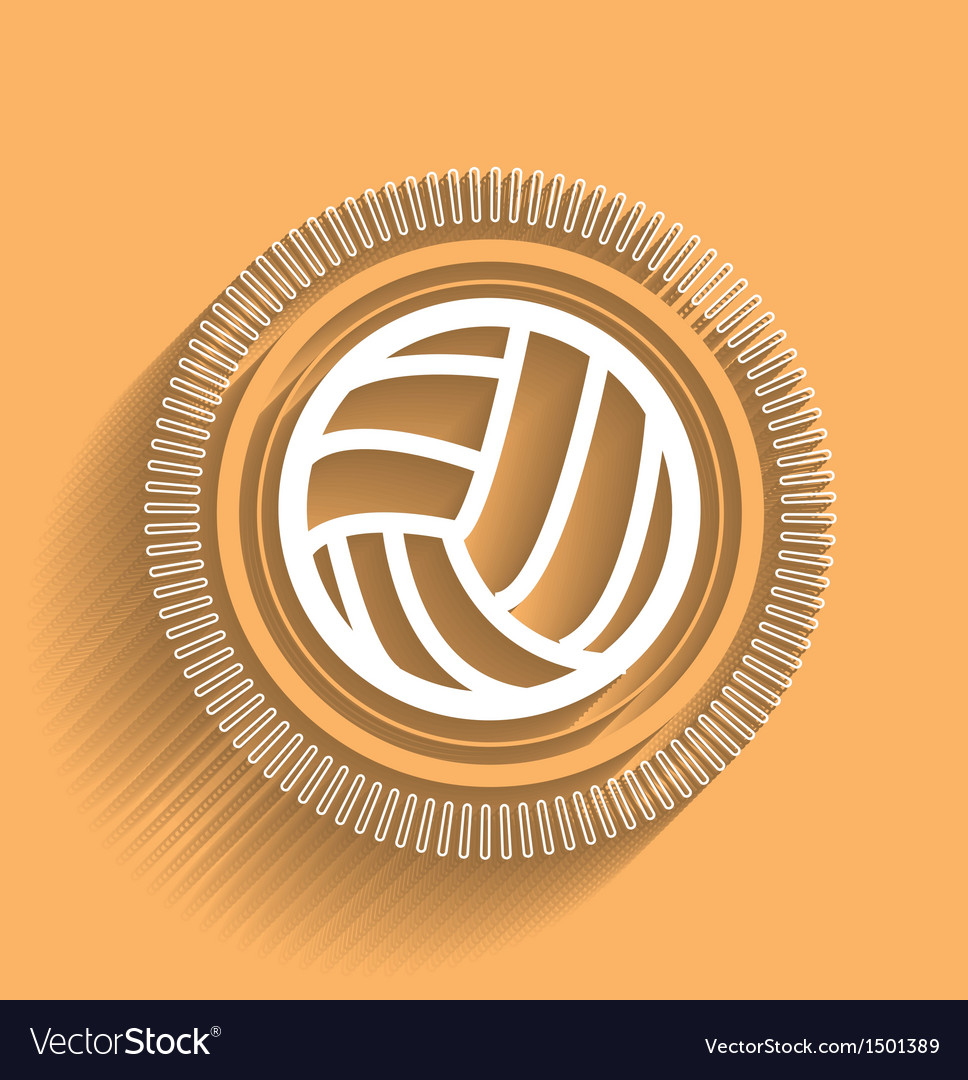 Volleyball icon flat modern design vector image