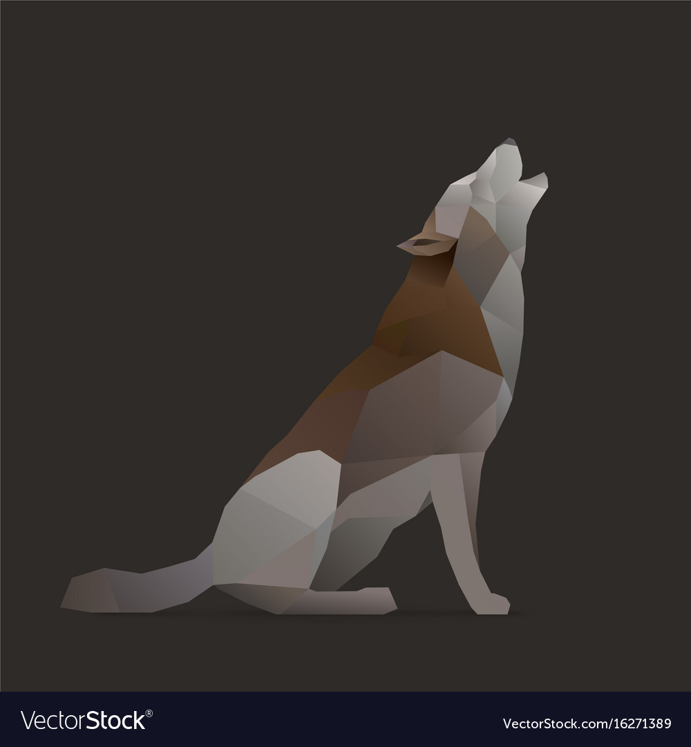 Wolf sings vector image