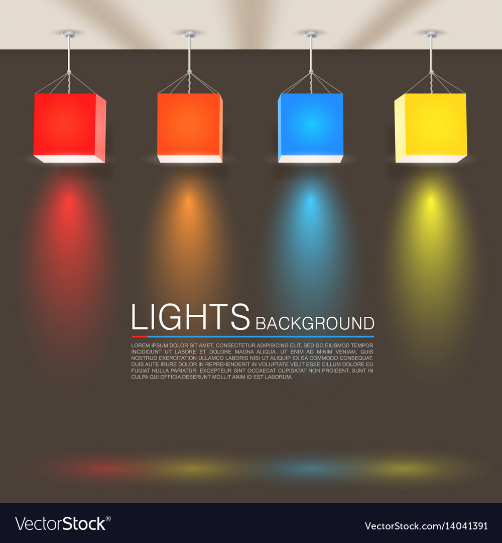 Square paper lamps vector image