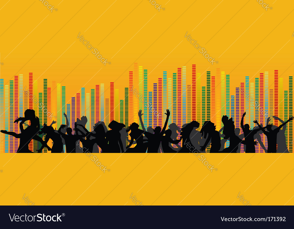 Set of party people vector image