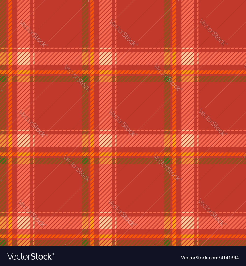 Seamless tartan pattern fabric Cells green yellow vector image