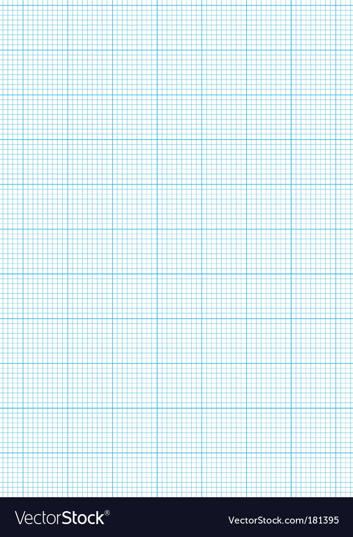Graph Paper A4 Sheet Royalty Free Vector Image