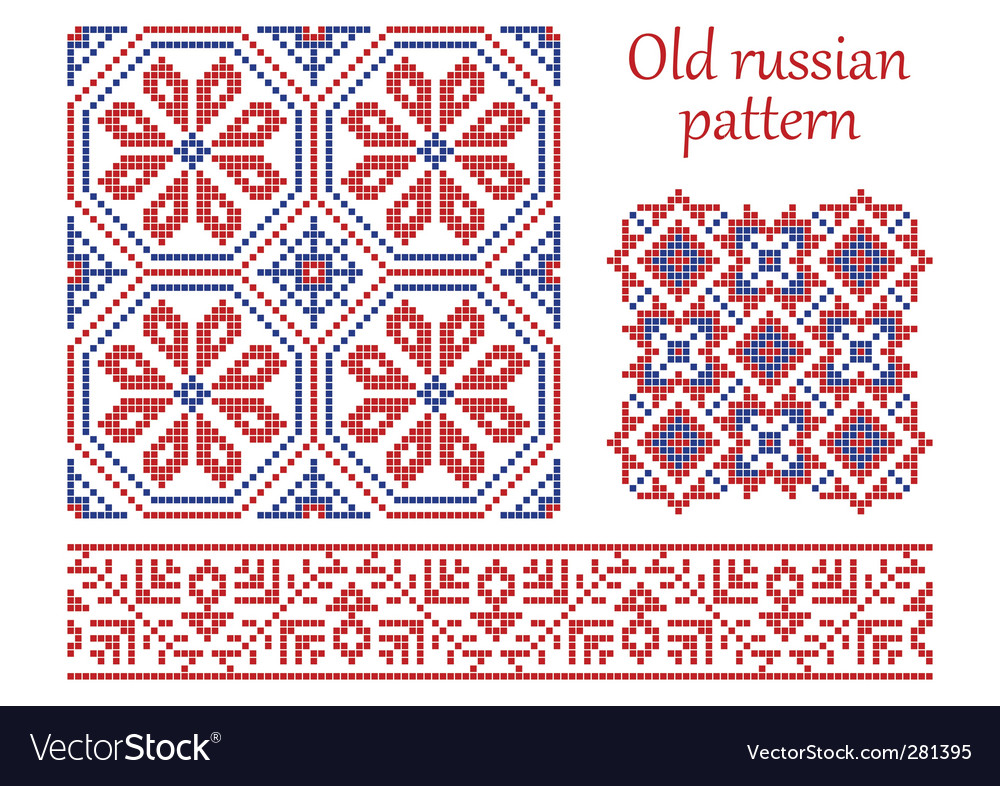Russian vintage pattern vector image