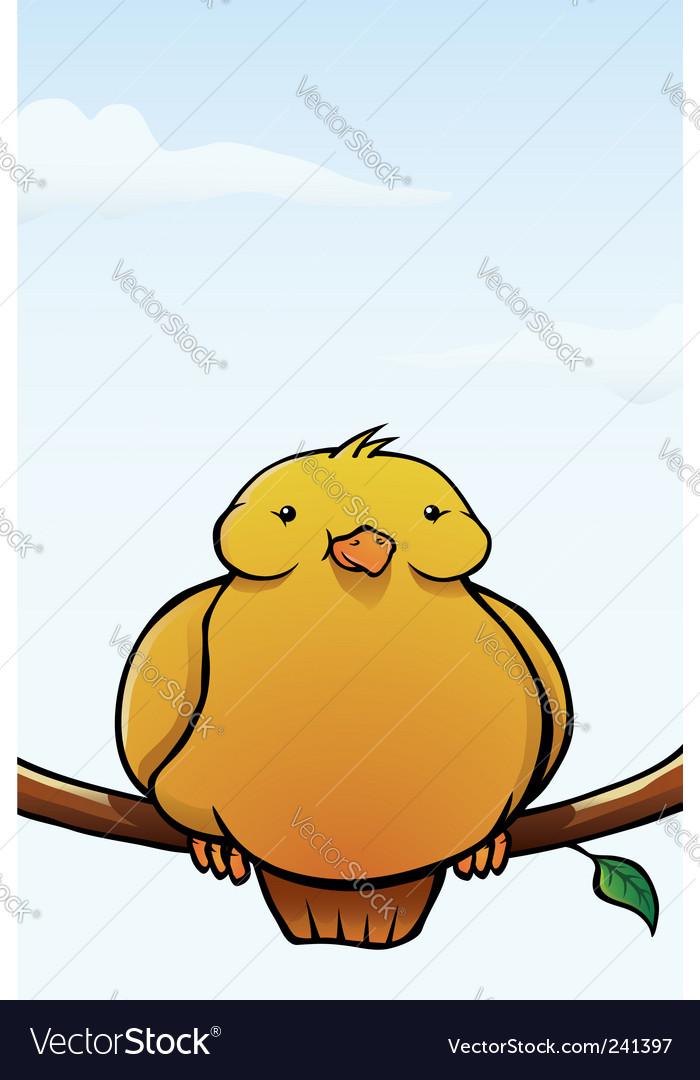 Fat bird vector image