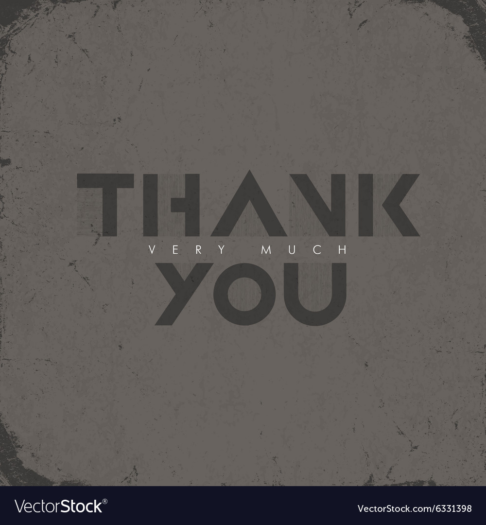 Thank you aged card vector image