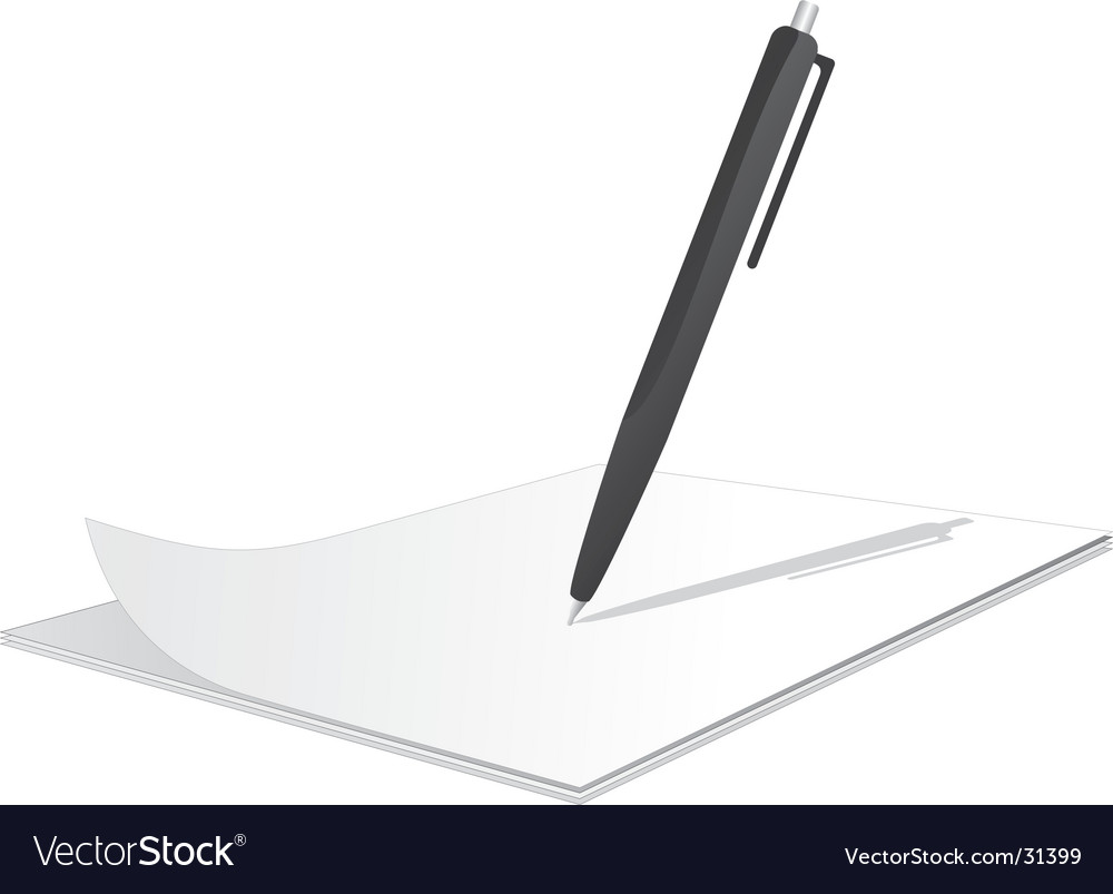 Clipboard with pen on top vector image